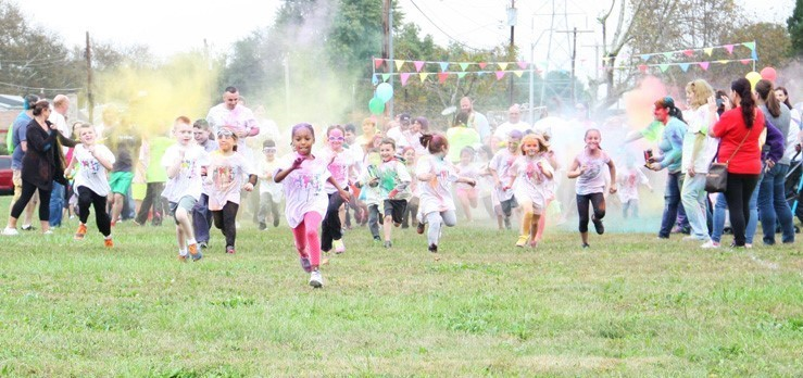 Penn Valley Elementary school students participated in a color run to raise money for a new playground.