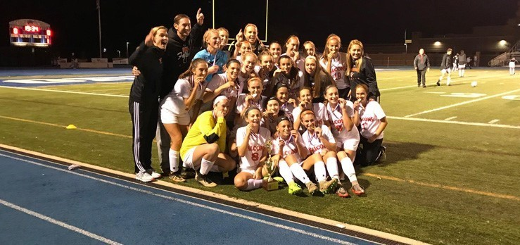 Pennsbury Girls Soccer wins the District One Championship