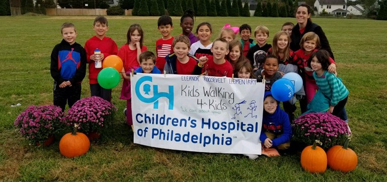 A Kids Walking 4 Kids walkathon at Eleanor Roosevelt Elementary raised $2,500 to support cancer research.