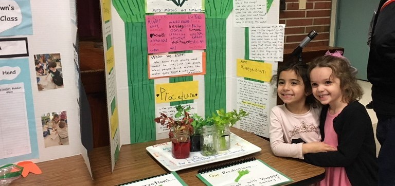 The annual Quarry Hill Elementary STEM Fair drew 250 volunteer student exhibits.