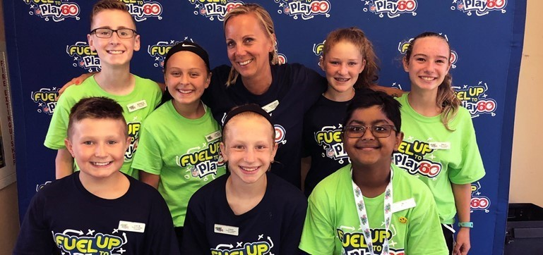 These Charles Boehm Middle School students won big prizes at the NFL Fuel Up to Play 60 Student Ambassador Summit in Atlanta in July!