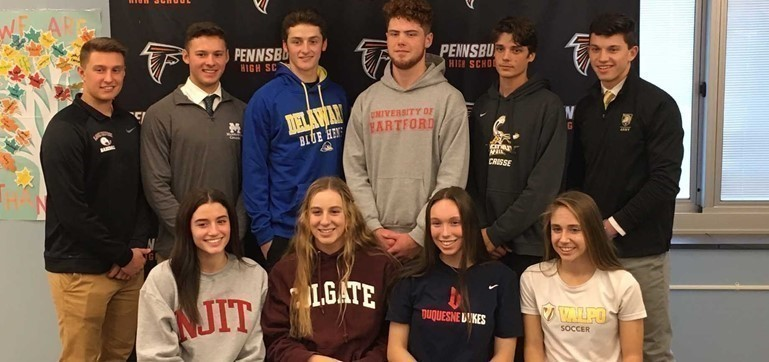 Congratulations to these Pennsbury athletes who each signed a National Letter of Intent to play at the collegiate level!