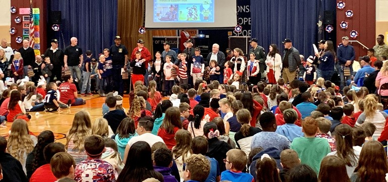 Oxford Valley Elementary students and staff honored their family members and friends who served in the armed forces or are currently active in the military in recognition of Veterans Day 2019.